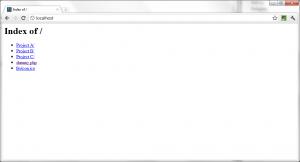 Zend Server CE Default Directory Listing