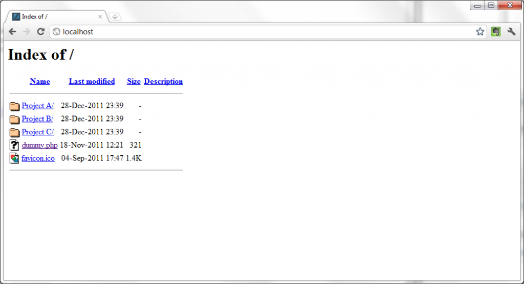 Zend Server CE Fancy Directory Listing
